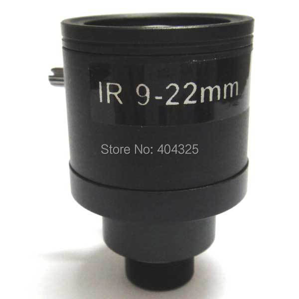 Mini 1/3'' 9-22mm Manual Zoom Manual Focus MTV Lens F1.4 for CCTV Security Camera