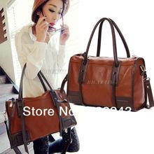 2015 Quality Fashion Women Vintage PU Leather Brown Ladies Hobo Tote Messenger Handbag Shoulder Satchel Bag HK for Xmas(China (Mainland))