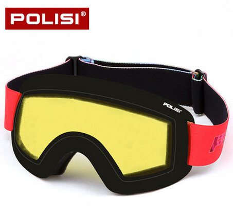 POLISI Professional Snow Skiing Goggles UV Protection Double Layer Anti-Fog Lens Winter Snowboard Glasses Eye wear, Yellow Lens(China (Mainland))