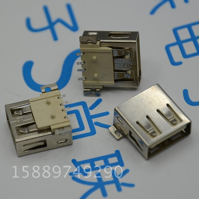 Free shipping 50pcs/lot type-B USB Replacement Port jack USB Connector USB socket for Desktop crate(China (Mainland))