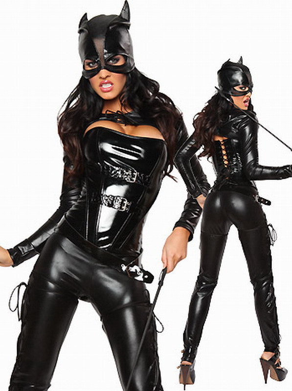 Faux-font-b-Leather-b-font-Black-Catwoma
