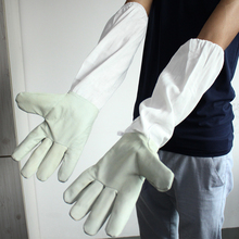 50-53cm Protective Beekeeping Gloves Leather Bee Keeping Tools Equipment with Long Sleeves(China (Mainland))