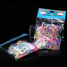 200pcs / bag Diy knitting machine bracelet woven rainbow colored rubber band solid color boosters Children's educational toys(China (Mainland))