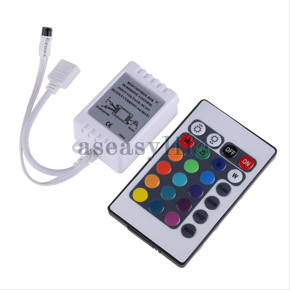 Hot Sale! 24 Key IR Remote Controller DC 12V for RGB 5050 SMD LED Strips Wireless ASAF Free Shipping(China (Mainland))