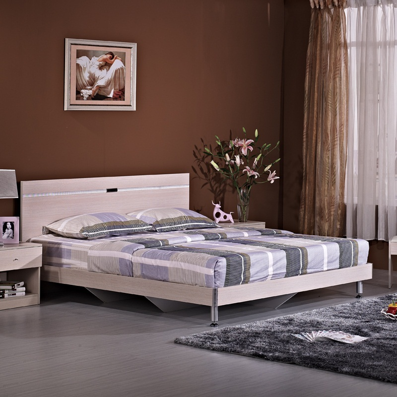 Furniture household size bedroom modern minimalist plate for Modern minimalist bed
