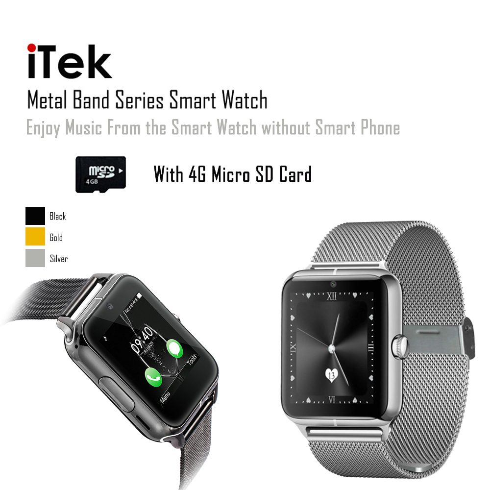 Bluetooth 4.0 Smart Watch 1.54 Inch Support SIM Card with 4G TF Card Heart Rate NFC J50 Wristwatch for IOS and Android Phone<br><br>Aliexpress