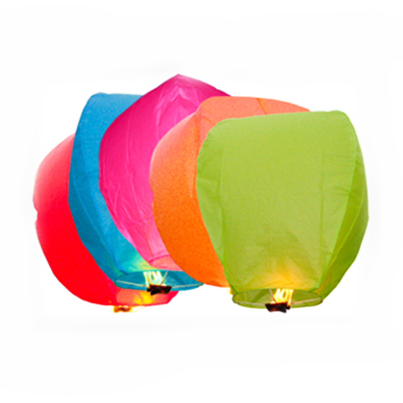10Pcs Multi-Color Paper Chinese Lanterns Fire Sky Fly Candle Lamp For Birthday Wish Party Wedding Decoration Hot Air Balloon(China (Mainland))