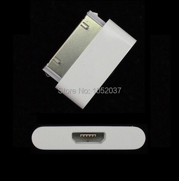 30Pin Dock Charger Adapter Adaptor For iPhone 4 4s New ipad 3 2 ipod 4 to Samsung XiaoMi LG Huawei Micro usb Charging Cable Cord(China (Mainland))