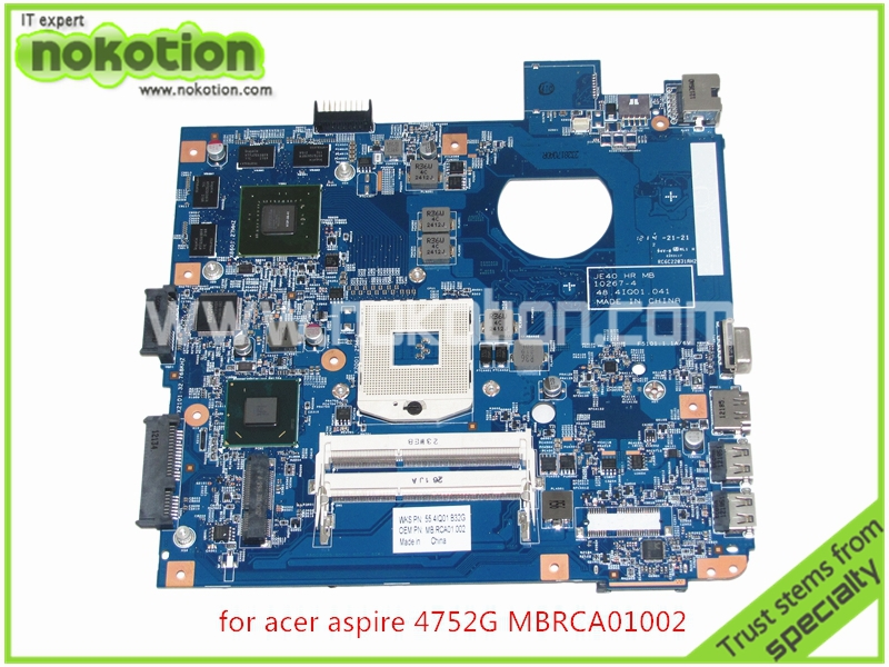 MB.RCA01.002 Laptop Motherboard acer aspire 4752G Intel HM65 Nvidia GT540M MBRCA01002 JE40 HR 10267-4 48.4IQ01.041 Mainboard