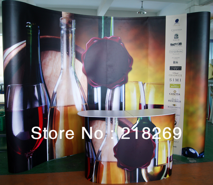 8X8ft(230X230cm) High Quality!!! Magnetic Pop up Stand Banner with POP up Table(China (Mainland))