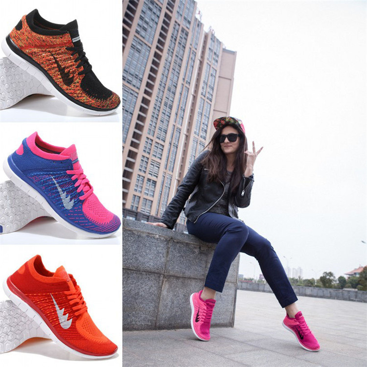 2015 Free Shipping Flyknit Free  4.0 Women's light breathable Running Shoes Fashion sport's shoes Women size EUR 36-40(China (Mainland))