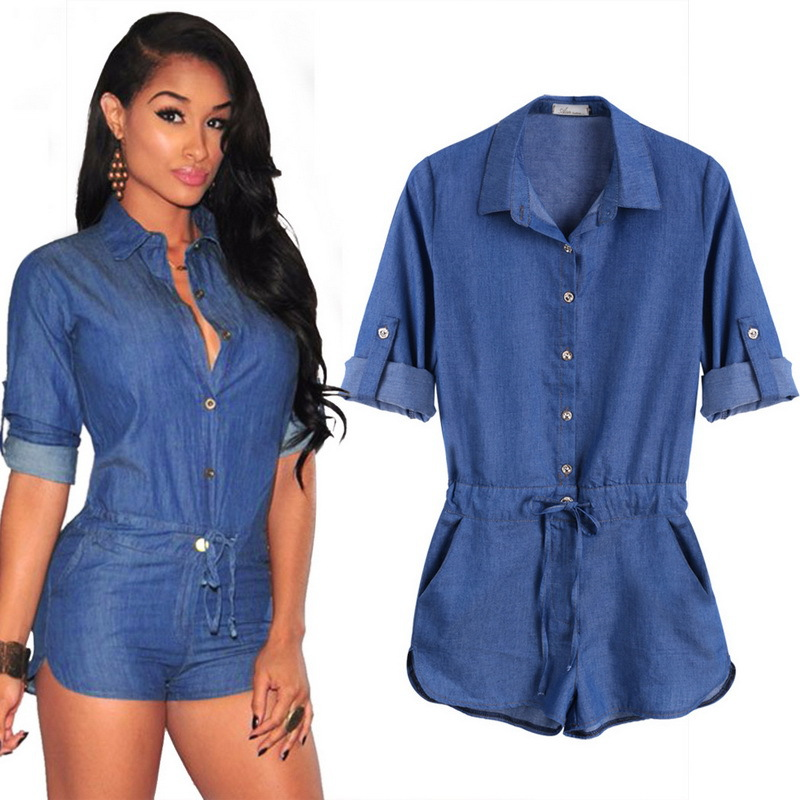 Collection Denim Romper For Women Pictures - Reikian