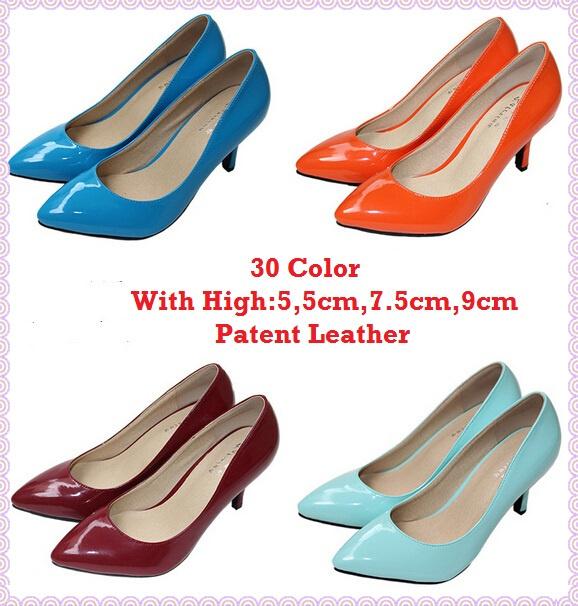 32 цвет женщины секс высокая высокие каблуки обувь кожа с острым носом туфли на высоком ...