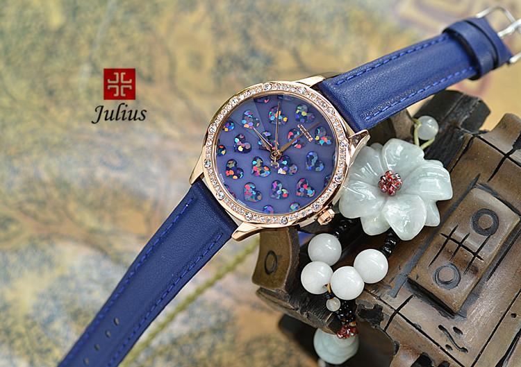 Леди наручные часы кварцевые женские часов лучший мода платье браслет группа кожа в форме сердца элегантный валентина девушке подарок юлий JA-851