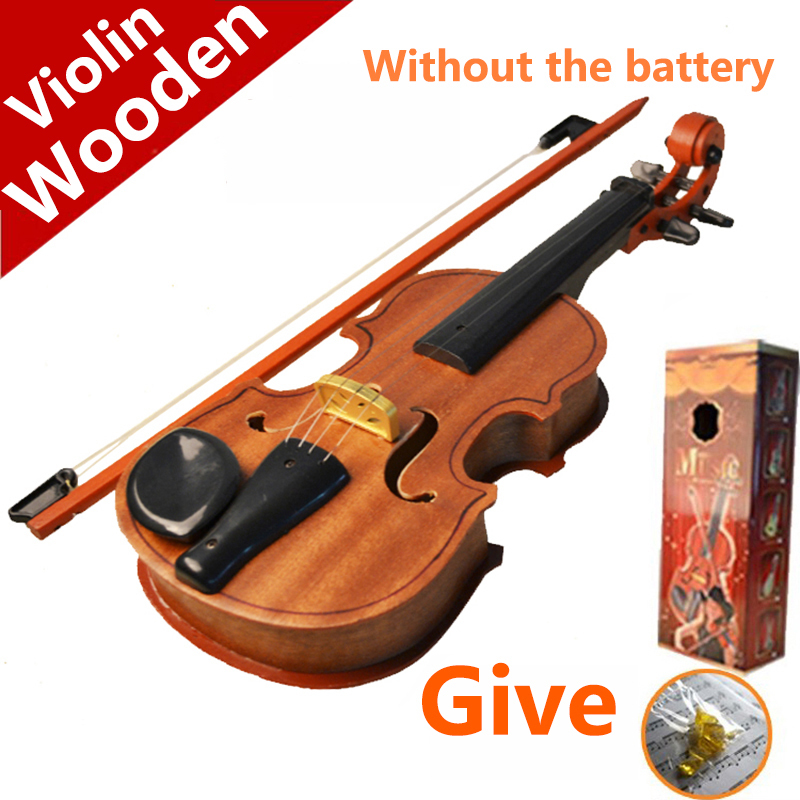 Toy violin wool child violin artificial toys piano wooden mini musical instrument(China (Mainland))