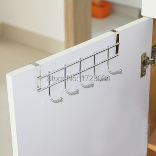 1pcs Stainless Over Door Hooks Kitchen Cabinet Draw Towel Clothes Pothook LH1456(China (Mainland))
