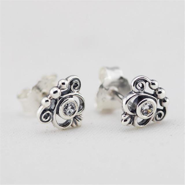 925 серебряные ювелирные изделия тиара кристаллы женщины серьгу женские гипоаллергенные мода DIY ювелирных аксессуаров