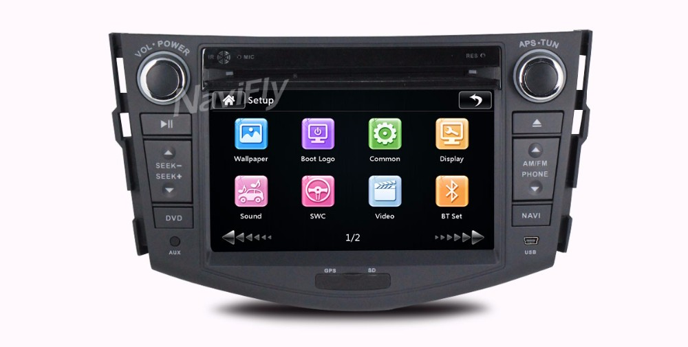 "7""Capacitiva screen Car GPS Navigation DVD Player for RAV4 2006-2012 Support 3G Wifi with Audio AUX Ipod BT free shipping"