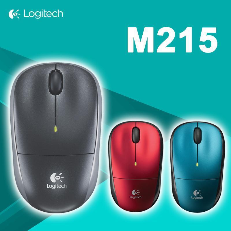 100% Original Logitech M215 2.4Ghz Wireless Optical Mouse for PC Laptop Computer NANO Receiver Free Shipping(China (Mainland))