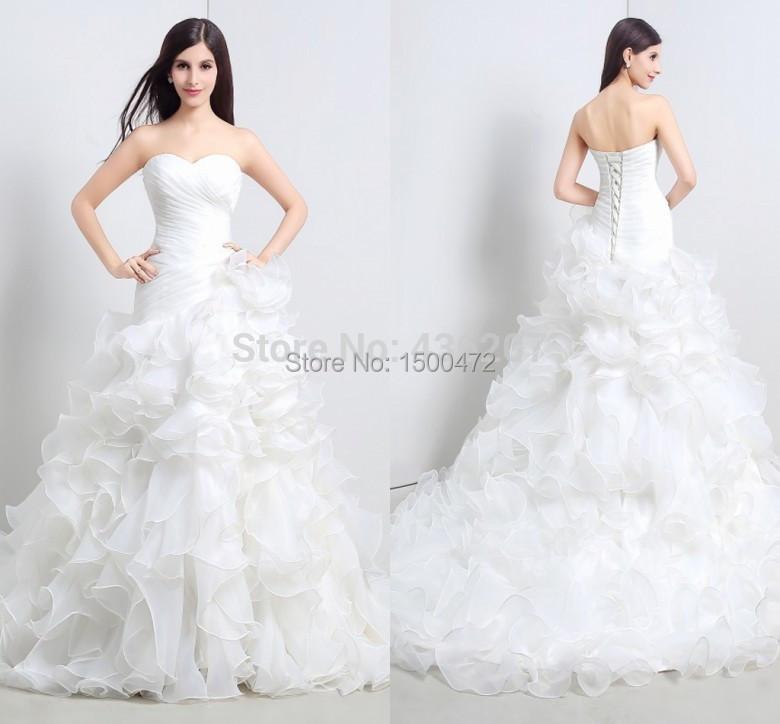 Online get cheap simple plain wedding dresses aliexpress for Simple inexpensive wedding dresses