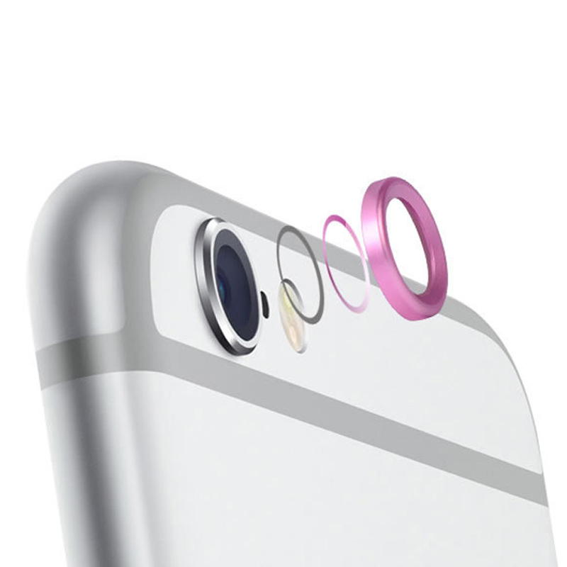 Lens Protective Case Cover Ring Installed for Apple iPhone 6/Plus Camera Lens 2 PC(China (Mainland))
