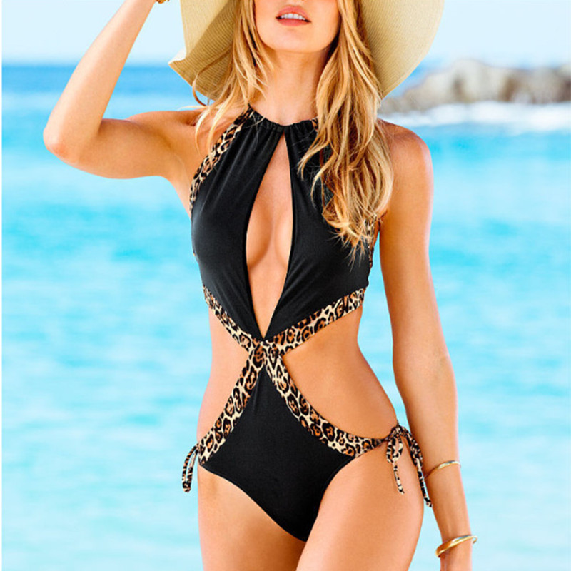 Sexy 1 piece cut out swimwear
