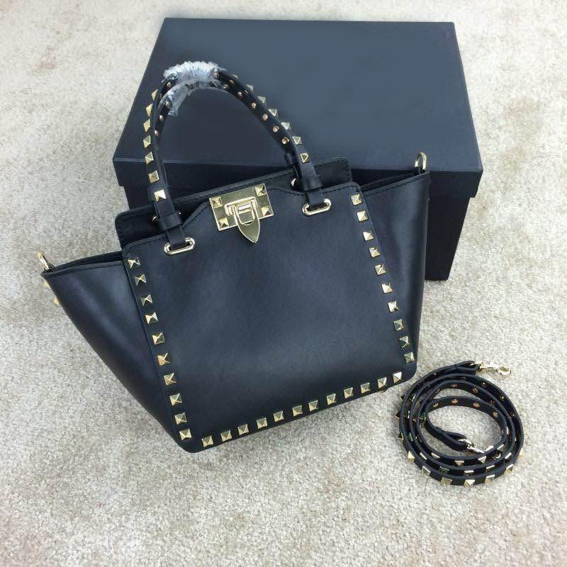 Free shipping  calfskin inner flannel trapeze rivets mini 20cm women genuine leather messenger bags handbags shoulder bags<br><br>Aliexpress