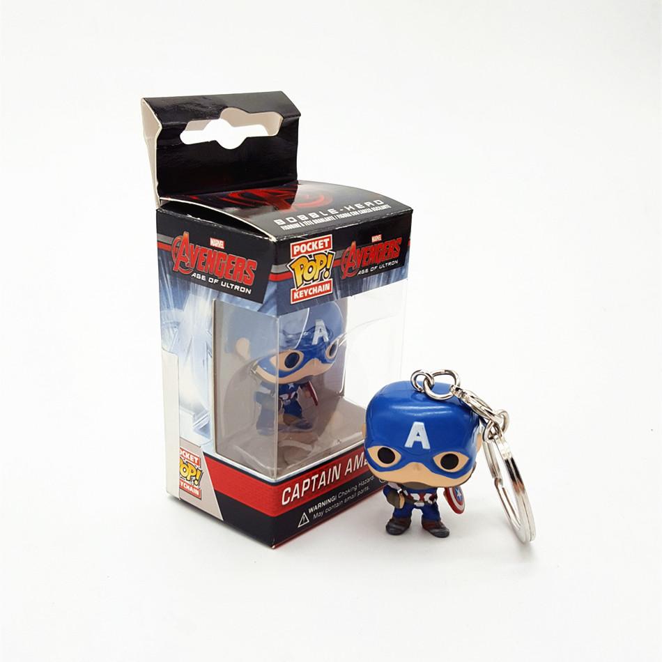 FUNKO POP Marvel Avengers2 Assemble Super Hero Captain America civil war PVC Action Figure Doll Collection keychain T402(China (Mainland))