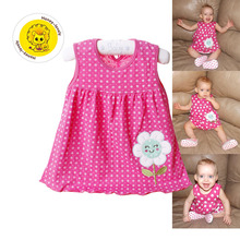 Baby Girl Princess Dress 3-24 Months Cotton Clothing Tutu Summer Newborn Clothes Costume For Frock Designs Kids Dresses(China (Mainland))