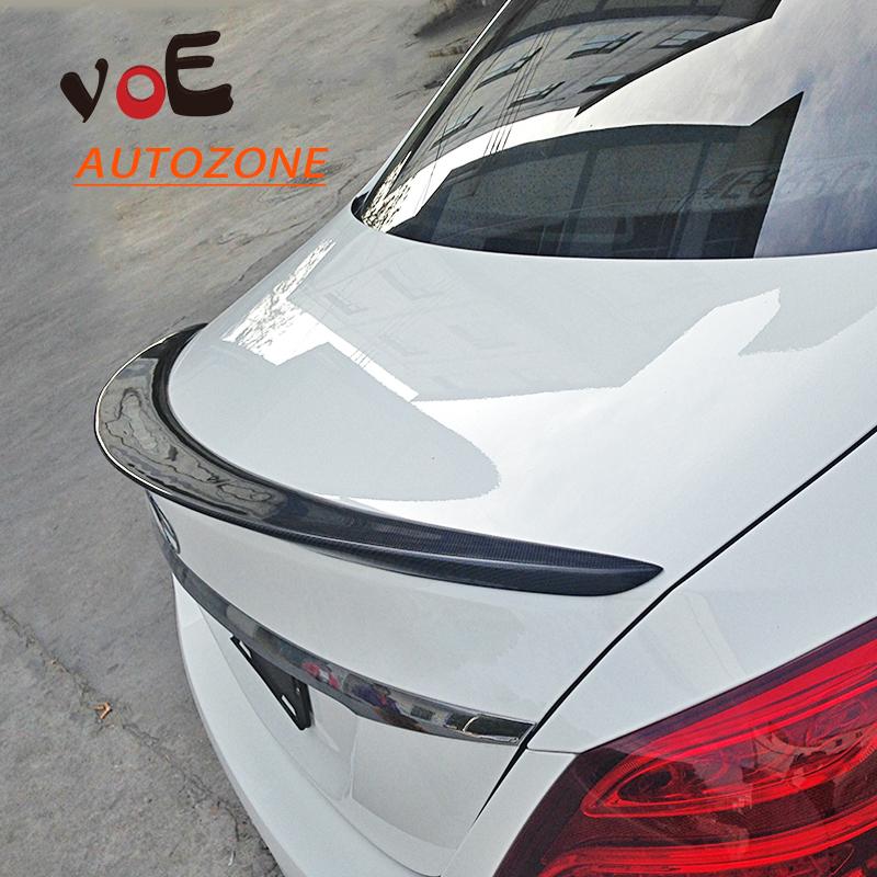2015 Carbon Fiber W205 Auto Car Rear Wing Trunk Spoiler, Rear Trunk Lip Spoiler for Mercedes-Benz W205 C-class<br><br>Aliexpress