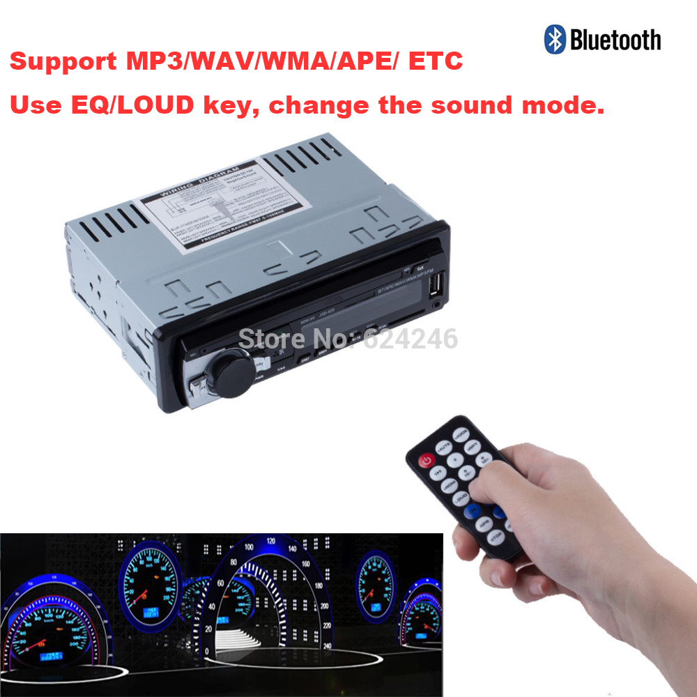 car styling Car Radio Stereo Player Bluetooth AUX-IN MP3 FM/USB/1 Din/remote control For Iphone 12V Car Audio MP3 player Auto(China (Mainland))