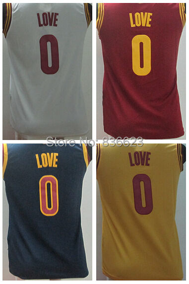 New Material Kid #0 Kevin Love Youth Basketball Jersey Embroidery logos size: S-XXXL(China (Mainland))
