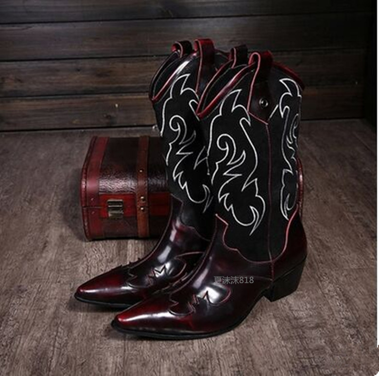 Mens Red Cowboy Boots Promotion-Shop for Promotional Mens Red ...