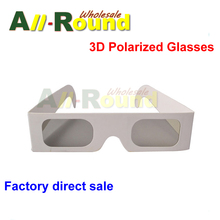 100pcs/lot Circular Polarized Paper 3D Glasses for Real D 3D Cinema, Passive 3D TV & Monitor&Laptop Hot selling(China (Mainland))