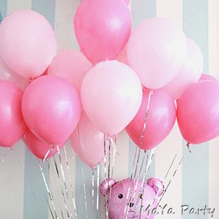 20pc/lot Pearl balloons 10 Inch Thick 2.2g Birthday Ballons Wedding Ballons Decorations Light/Dark Pink Party Wholesale(China (Mainland))