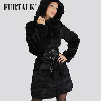 Мех обсуждение русский женские шубы верхней одежды настоящее кролик пальто с большим капюшоном