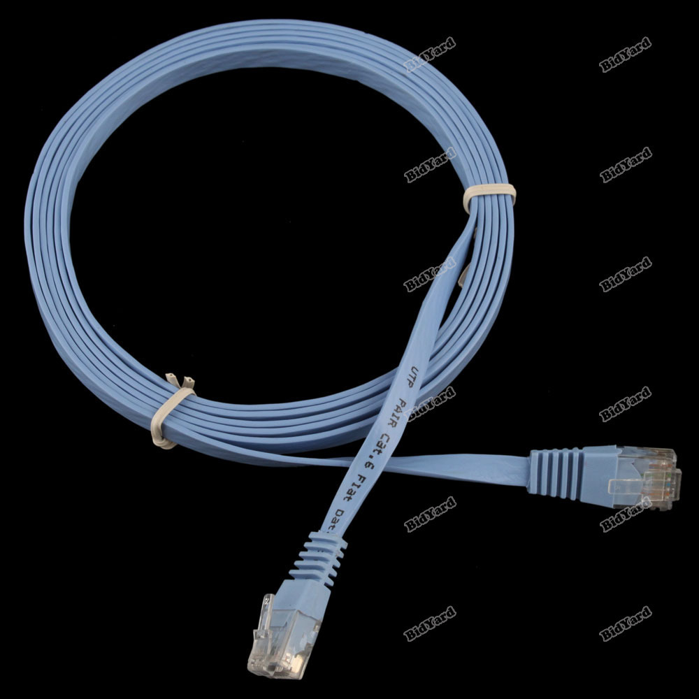 Cheapest! bestChoise New 2M 6FT CAT6 CAT 6 Flat UTP Ethernet Network Cable RJ45 Patch LAN Cord [24 hours dispatch] Top sales(China (Mainland))