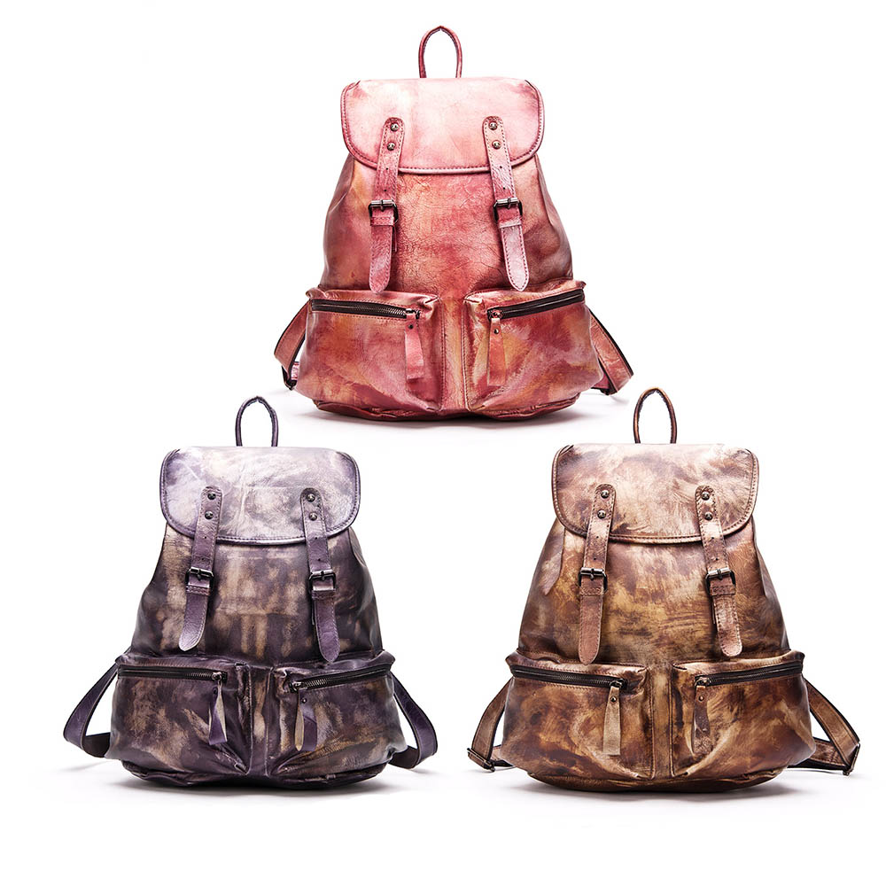 Women Genuine Leather Backpack Shouler Bag Fasion Cowhide Ladies Travelling Bag<br><br>Aliexpress