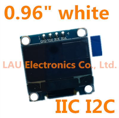 "20pcs 0.96"" white OLED module 0.96 OLED New 128X64 OLED LCD LED Display Module For Arduino 0.96"" IIC I2C Communicate(China (Mainland))"