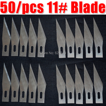 Free Shipping! 50/pcs 11# surgical knives blades (For 11 # scalpel  Use a to replace) Carving Blade