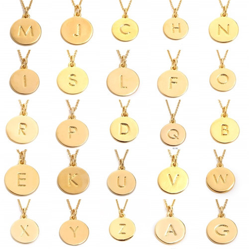 letter a pendant necklace gold