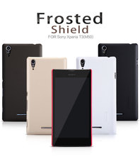 Buy Original Nillkin Frosted Shield Cell phone case Sony Xperia T3 M50 Plastic Hard Back Cover matte Case Capa +Screen Protector for $7.19 in AliExpress store