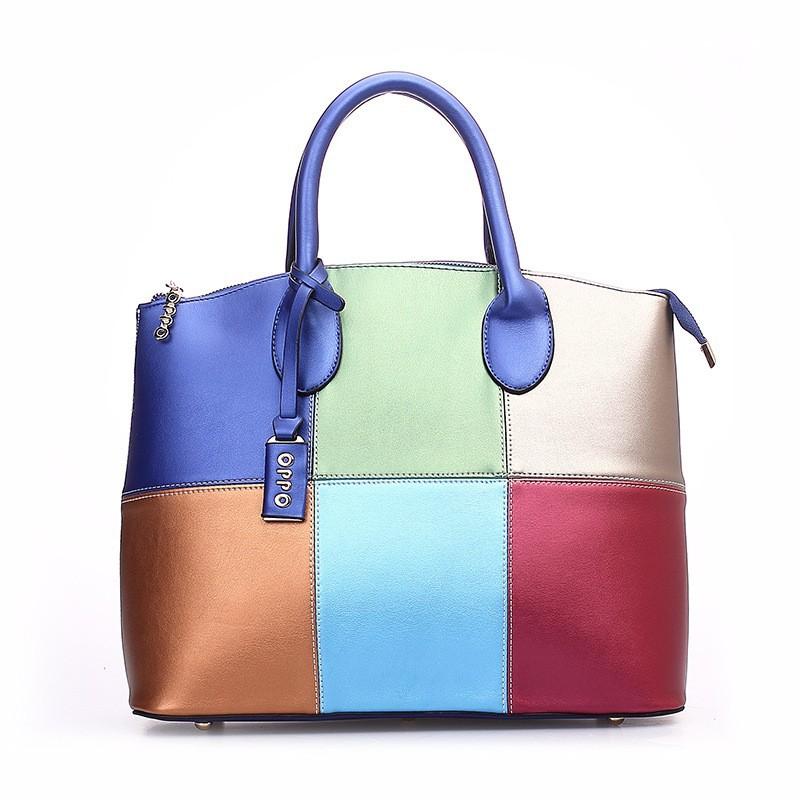 2014 Vintage Fashion Desigual OPPO Brand  Women Handbags Patch Work