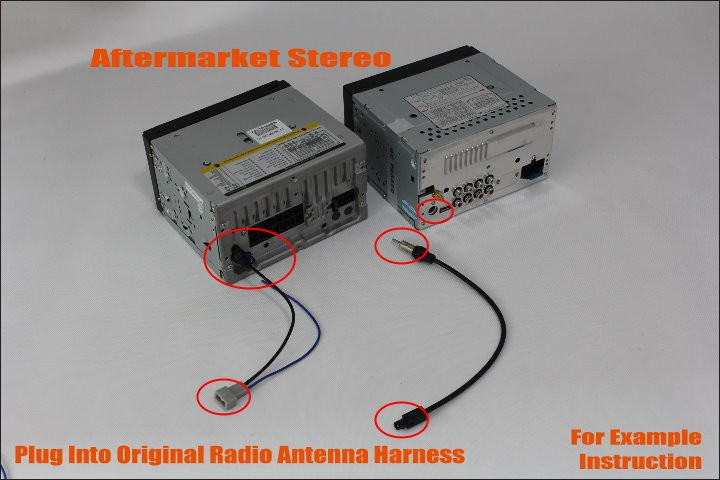 radio antenna adapter connecting