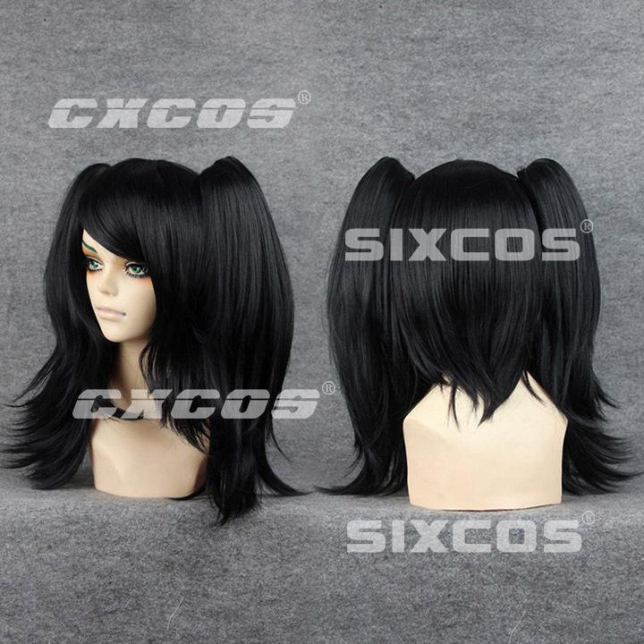 VOCALOID - Yokune Ruko Cosplay Wig for Party Halloween SIXCOS/CXCOS Black 45cm(China (Mainland))