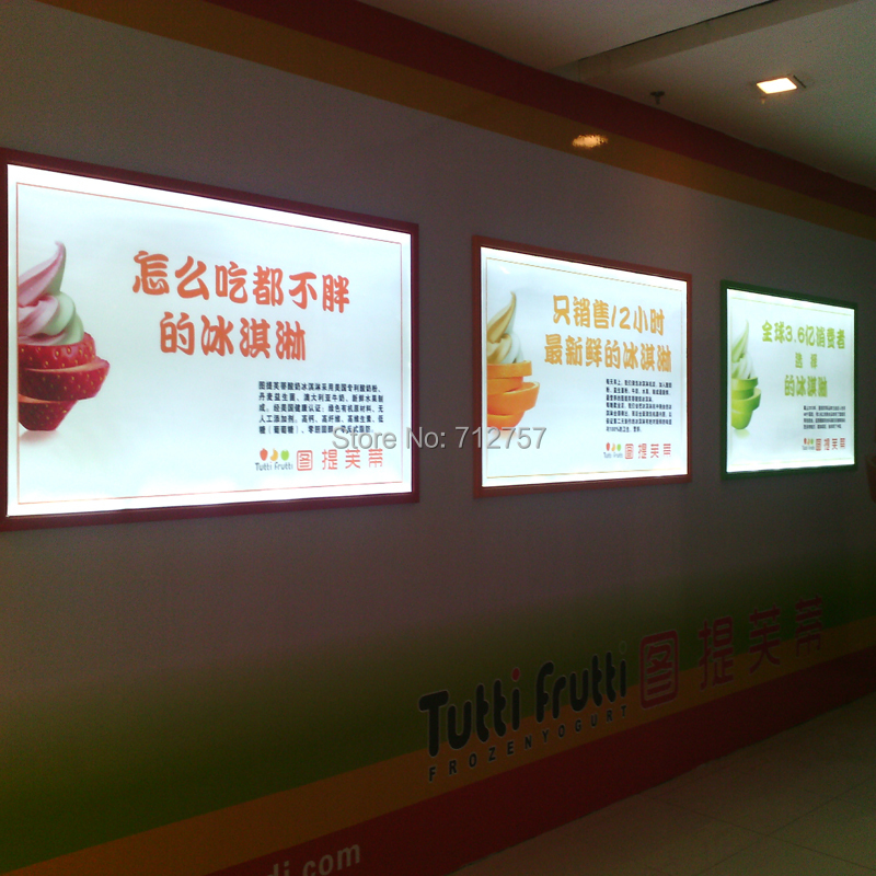 aluminum frame brightness slim led light box 27x40 led poster frame