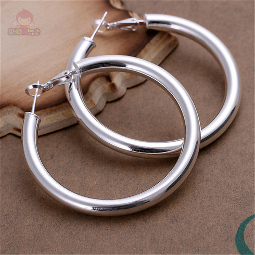 Retro ethnic style new design silver plated fashion round shape cheap hoop earrings for women party gift holiday SHAE225(China (Mainland))