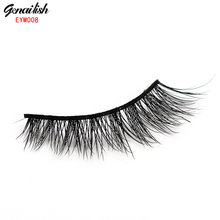 1 Pair Messy Mink False Eyelash 100% Handmade Super long Thick and Messy with High Quality Popular for Beauty Makeup-EYM008(China (Mainland))