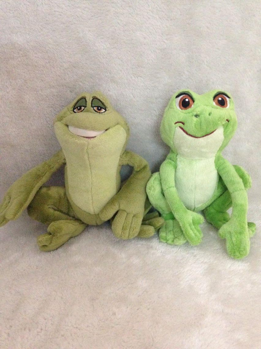2pcs/lot Tiana as Frog Plush Toy And Prince Naveen as Frog Plush Toy 17cm From The Princess And The Frog(China (Mainland))
