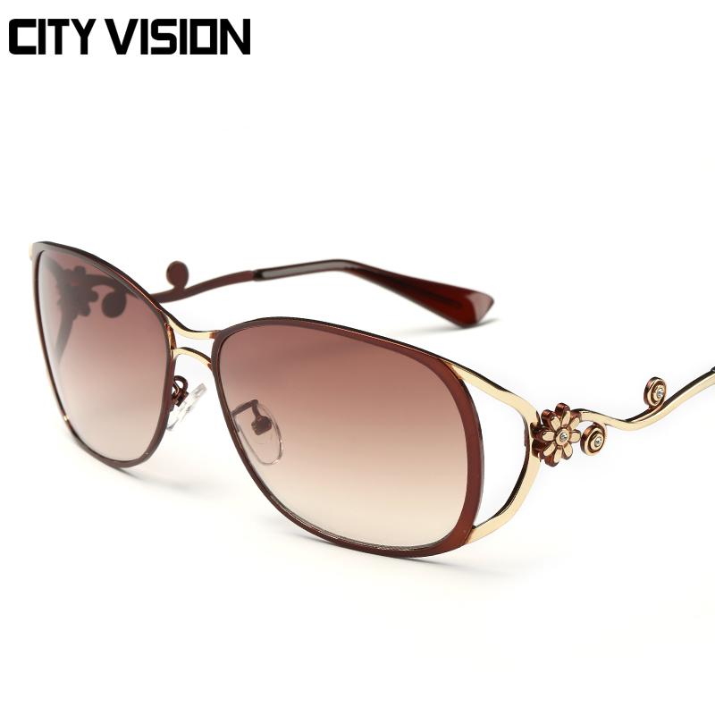 2016 New Oval Sunglasses Women metal Eyewear Fashion Glasses Woman Shades Female original brand glasses Outdoor Oculos de sol(China (Mainland))